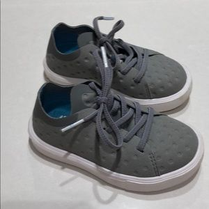 Native Light Grey Lace up Sneakers